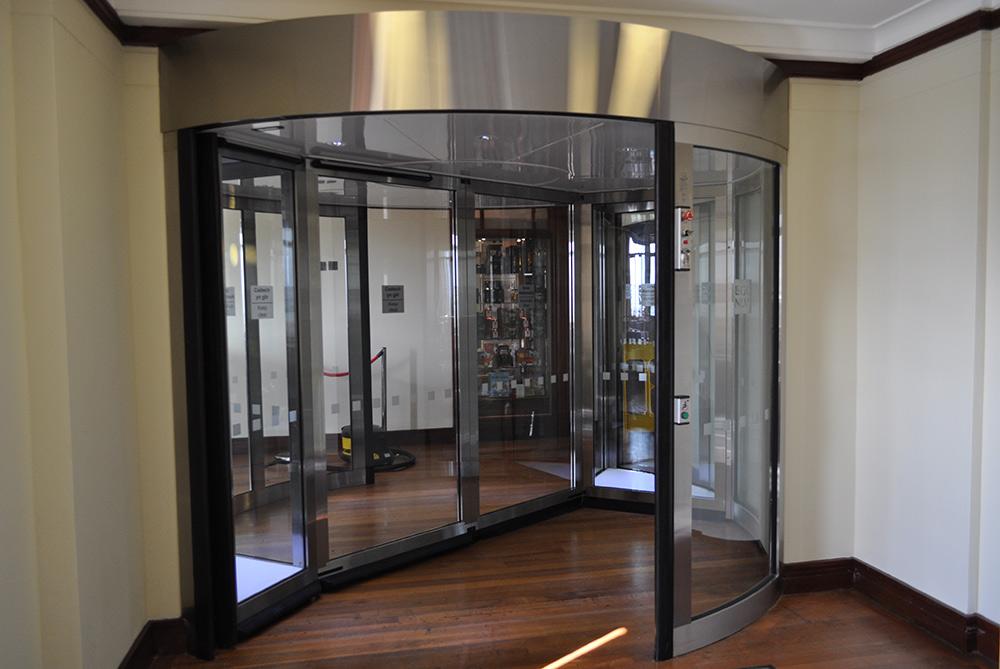 High Capacity Revolving Door at National Library Of Wales