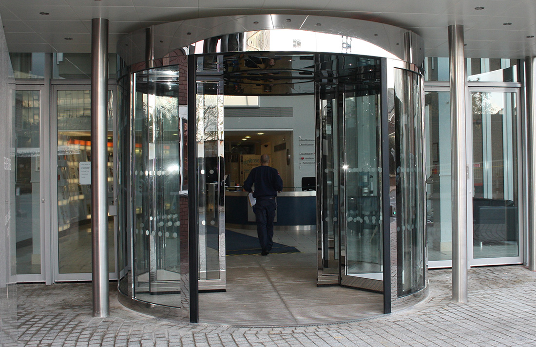 High Capacity Revolving Door London office building
