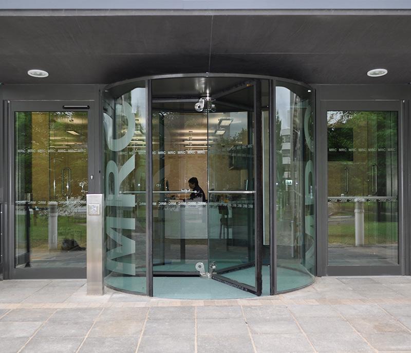 All Glass Revolving Door in Warwickshire