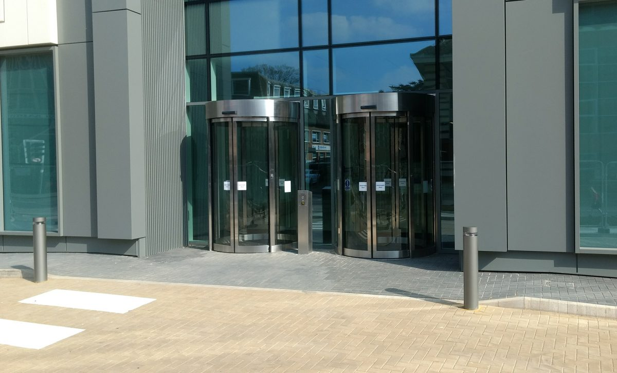 Curved Sliding Doors office building