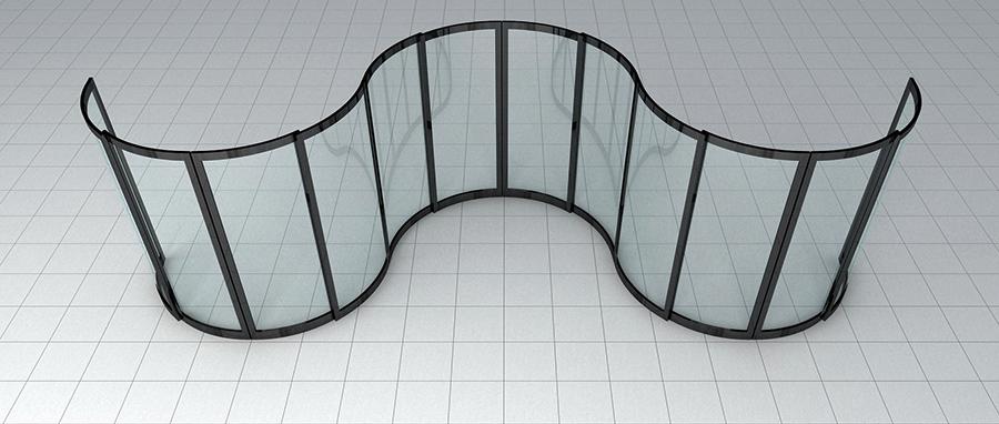 KC2000 curved wave door dwg