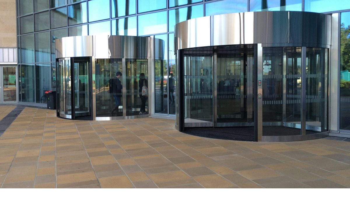 High Capacity Revolving Door at a Scottish education facility