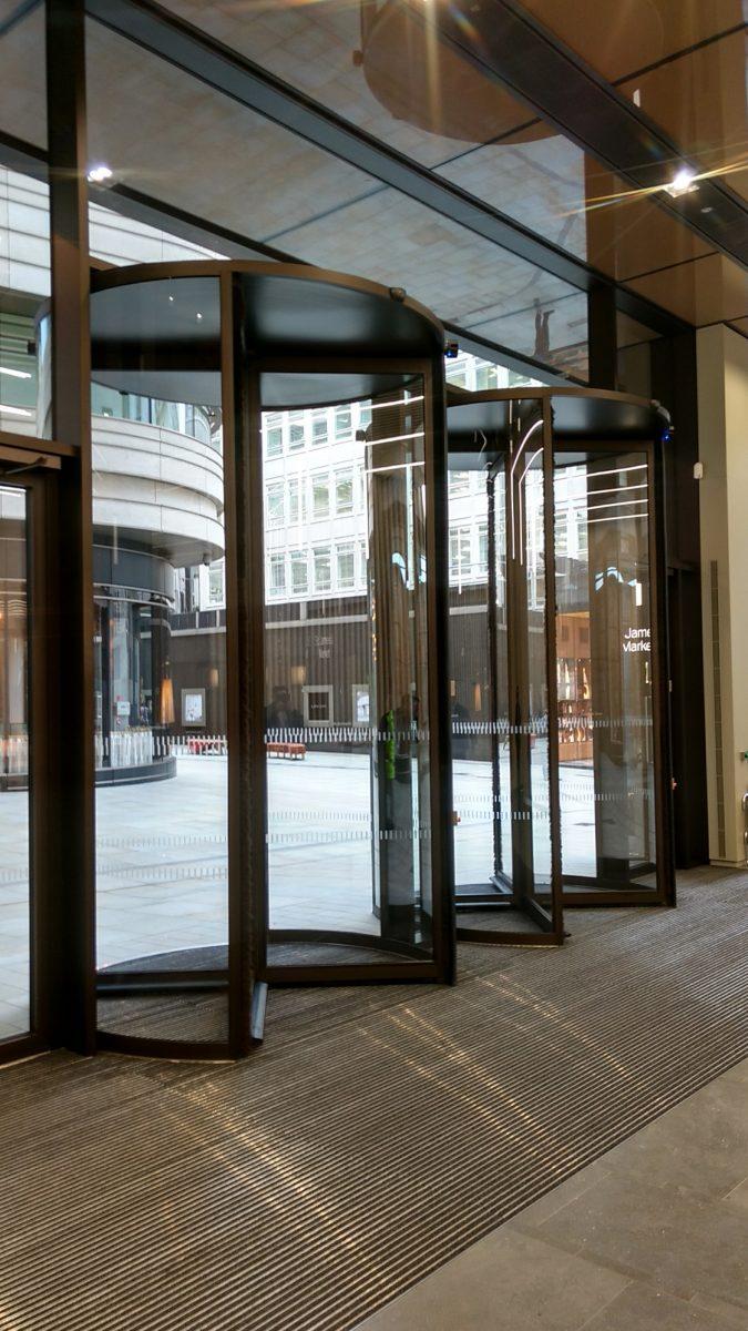 Tall Revolving Doors St James Market in London