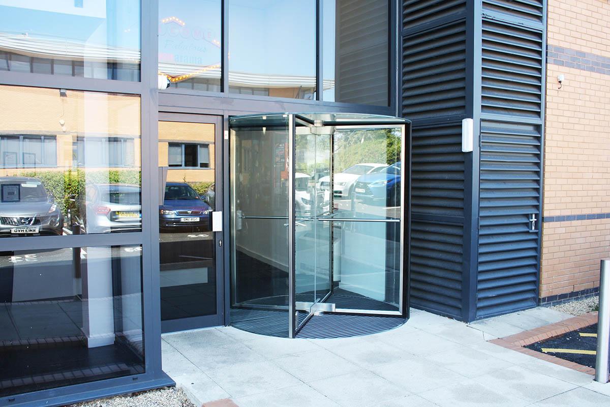 EA All Glass Manual Revolving Door