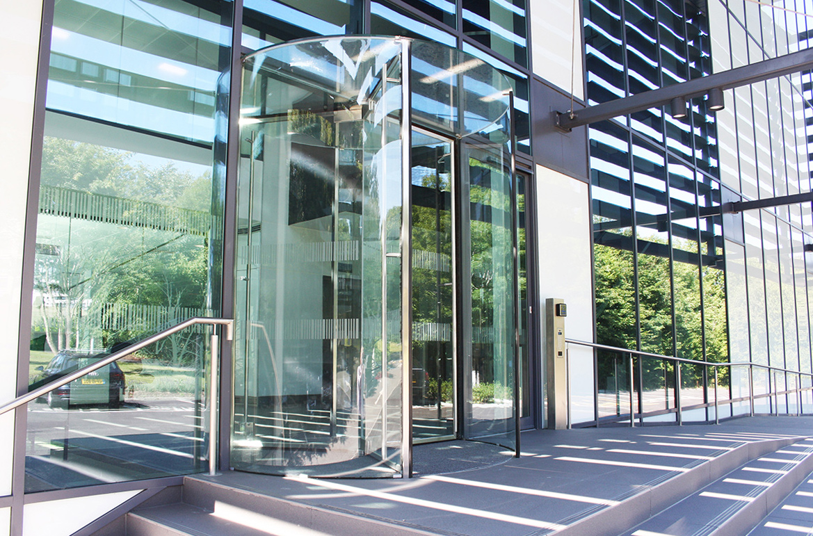 All Glass Revolving Door at One Springfield